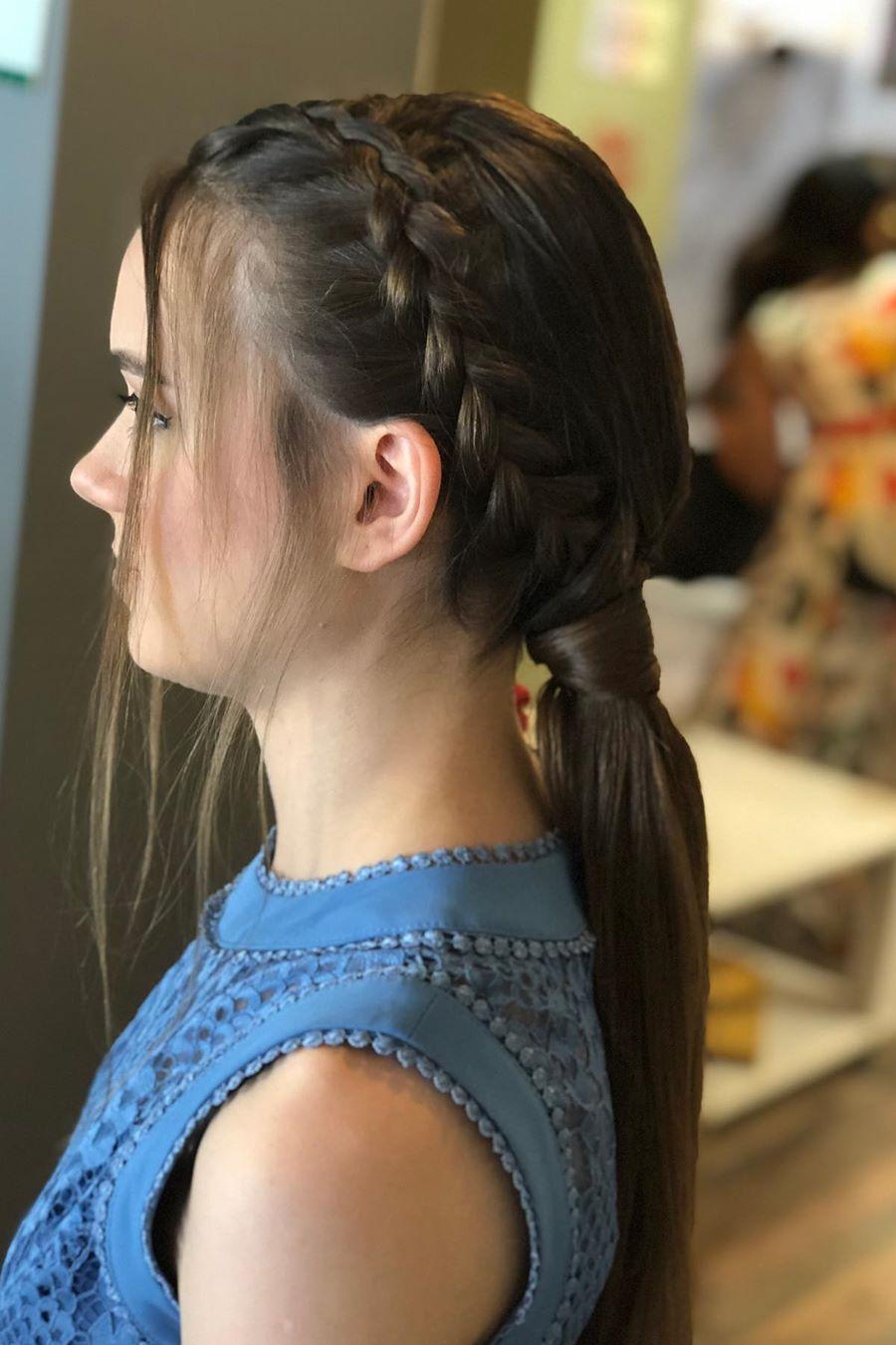 Braided Ponytail Hairstyle 2