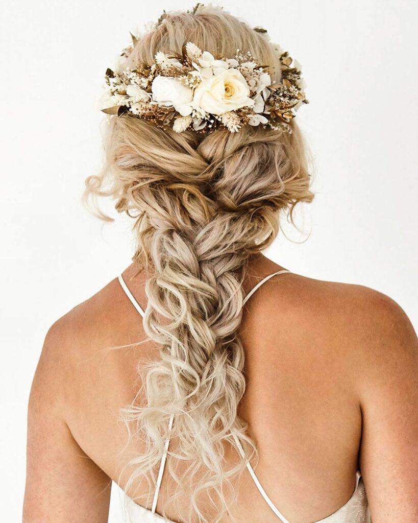 Long Bridal Hairstyle