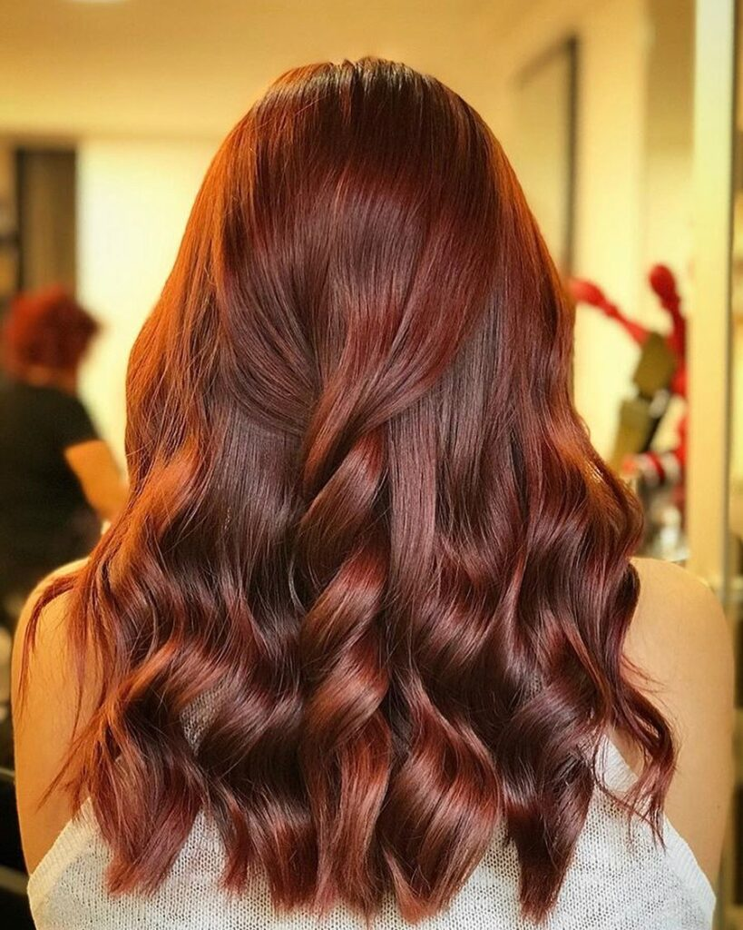 Scarlet Red Brown Hair Colo