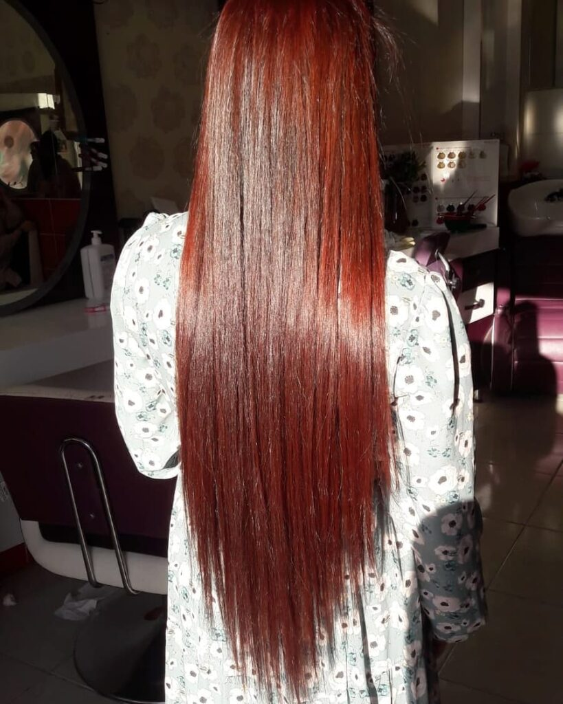 Scarlet hair color shades